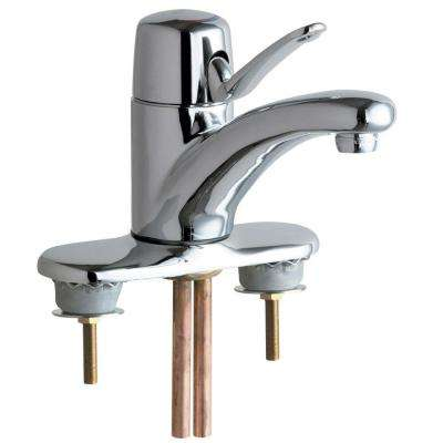 4 in. Centerset 1-Handle Low-Arc Bathroom Faucet in Chrome with 4-3/4 in. Integral Cast Brass Spout