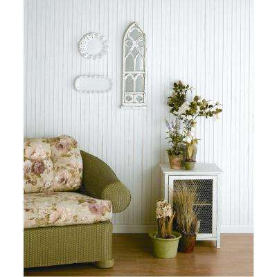 W96WP 12 sq. ft. White Vinyl Reversible Interior/Exterior Paneling (3-Piece Per Pack)