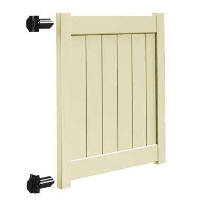Bryce and Washington Series 4 ft. W x 4 ft. H Sand Vinyl Walk Fence Gate Kit