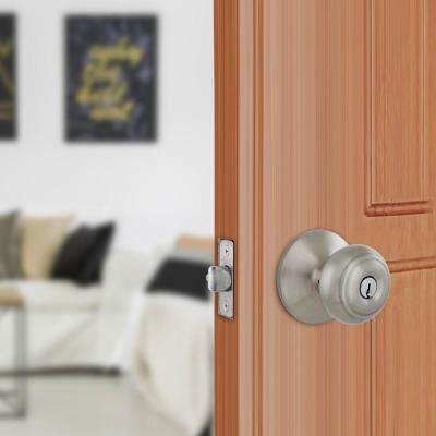 Hartford Satin Nickel Keyed Entry Door Knob