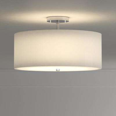 Clara 3-Light Chrome Semi-Flush Mount Light