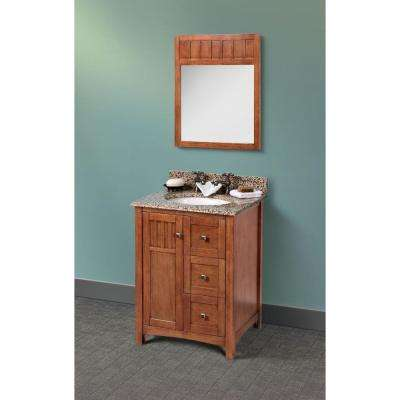 Knoxville 24 in. W x 21.63 in. D x 34 in. H Vanity Cabinet Only in Nutmeg
