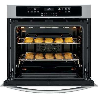 30 in. Single Electric Wall Oven with True Convection Self-Cleaning in Stainless Steel