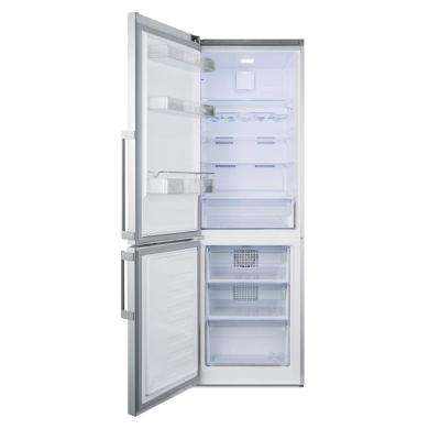 24 in. 11.35 cu. ft. Bottom Freezer Refrigerator in Stainless Steel, Counter Depth