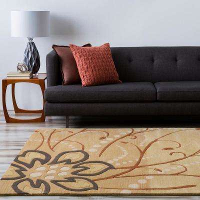 Fremont Tan Wool 3 ft. x 8 ft. Area Rug