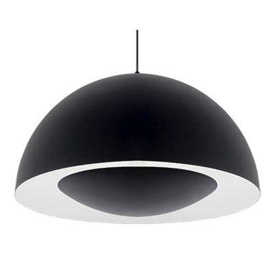 Karmis 1-Light 60-Watt Equivalence Black Integrated LED Pendant