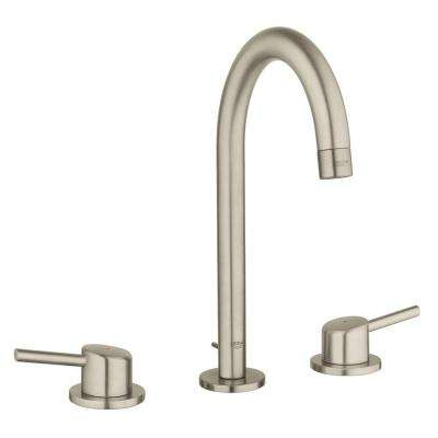Concetto 8 in. Widespread 2-Handle 1.2 GPM Bathroom Faucet in Brushed Nickel InfinityFinish