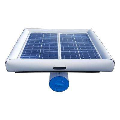 Savior 10,000 gal. Solar Powered Pool Pump with Floating Cartridge Filter System for In-ground and Above Ground Pools