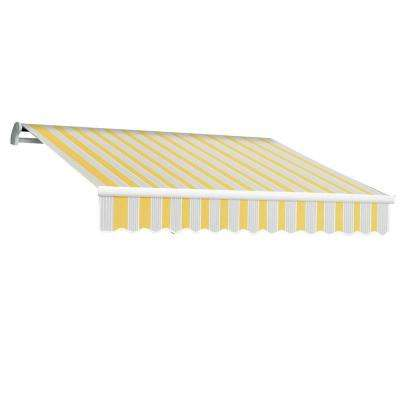 8 ft. Maui-LX Manual Retractable Acrylic Awning (84 in. Projection) in Yellow/Gray/Terra