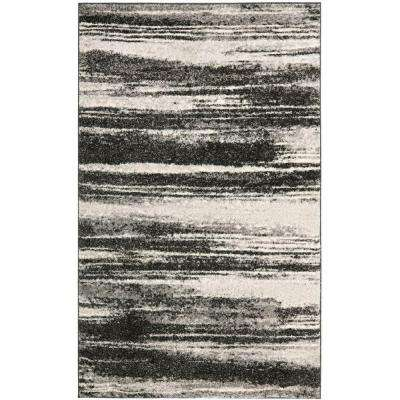 Retro Dark Grey/Light Grey 3 ft. x 5 ft. Area Rug