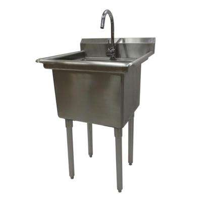 23 in. W x 23 in. D x 46 in. H Stainless Steel Utility Sink