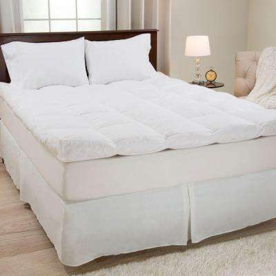 Twin Size 4 in. H Down and Duck Feather Mattress Topper