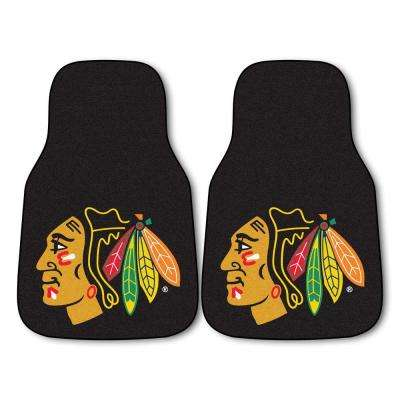 Chicago Blackhawks 18 in. x 27 in. 2-Piece Carpeted Car Mat Set
