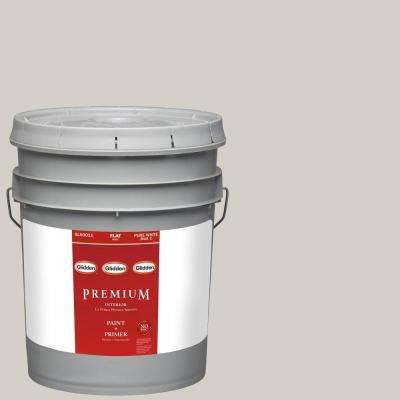 5-gal. #HDGWN49 Smooth Stone Flat Latex Interior Paint with Primer