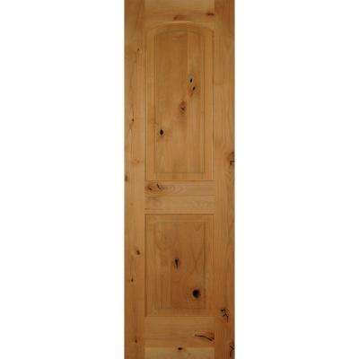 Incroyable 2 Panel Arch Top Unfinished Solid Core Knotty Alder Single Prehung Interior  Door