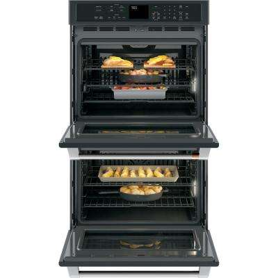 30 in. Double Electric Wall Oven with Convection Self-Clean in Matte Black, Fingerprint Resistant