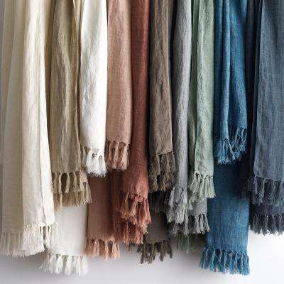 Belgium Linen Fringed Throw
