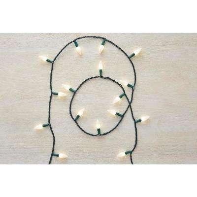 50-Light LED Warm White Ceramic String Light