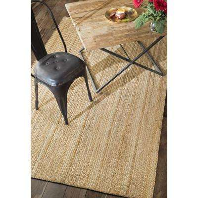 Rigo Natural 8 ft. x 8 ft. Round Area Rug