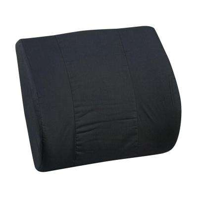 Lumbar Memory Cushion with Strap in Black