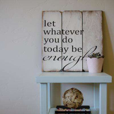 "16 in. x 16 in. ""Let Whatever You Do Today"" Wood Wall Art"