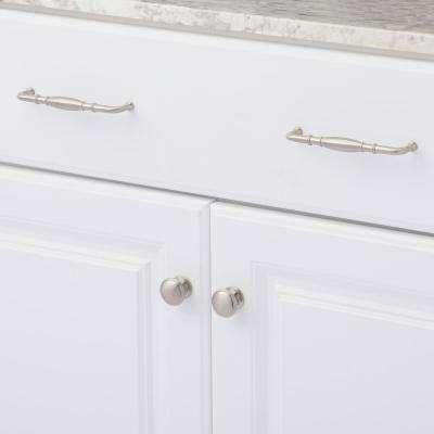 Williamsburg 1.25 in. Satin Nickel Cabinet Hardware Cabinet Knob