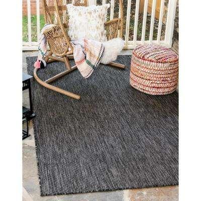 Outdoor Solid Black 8' 0 x 11' 4 Area Rug