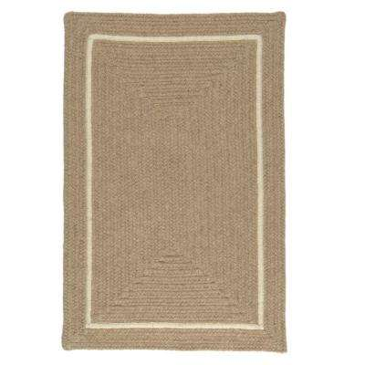 Natural Beige 3 ft. x 5 ft. Rectangle Braided Area Rug
