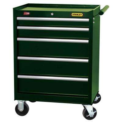27 in. 5-Drawer Wide Tool Cabinet, Dark Green