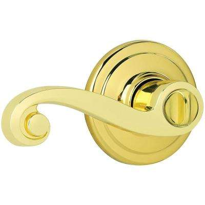 Lido Polished Brass Bed/Bath Lever