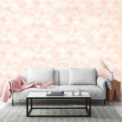 28.18 sq. ft. Cloud Pink Peel and Stick Wallpaper