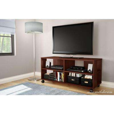 Jambory Entertainment Center on Casters in Royal Cherry