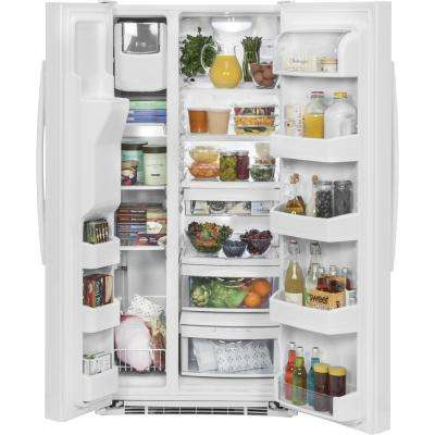 23.2 cu. ft. Side by Side Refrigerator in White, ENERGY STAR