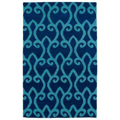 Glam Blue 2 ft. x 3 ft. Area Rug