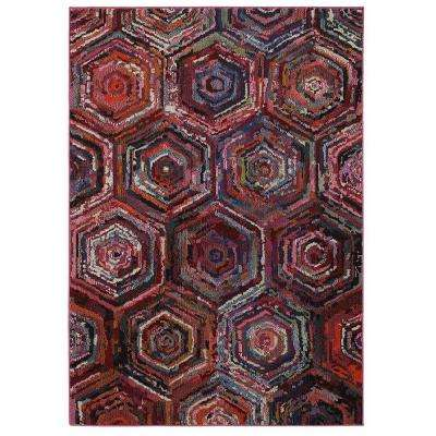 Jubilee Multi 3 ft. 9 in. x 5 ft. 2 in. Artistic Plush Indoor Area Rug