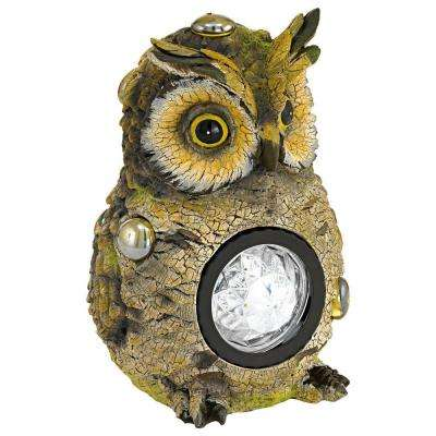 Solar LED Multi-Color Outdoor Owl Light