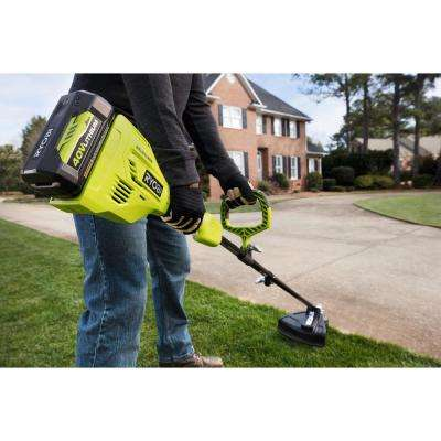 Expand-It 40-Volt Lithium-Ion Cordless String Trimmer Combo Kit with Edger Attachment 3.0 Ah Battery, Charger Included