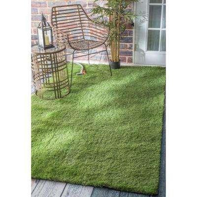 Artificial Grass Green 5 ft. x 8 ft. Indoor/Outdoor Area Rug