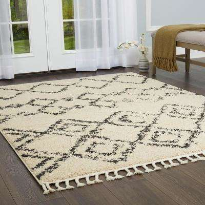 Nicole Miller Nepal Dynasty Ivory 5 ft. 2 in. x 7 ft. 2 in. Indoor Area Rug