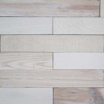 Deco Planks Light House White Washed 1/2 in. x 4 in. Wide x 24 in. Length Solid Hardwood Wall Planks (10 sq. ft. / case)
