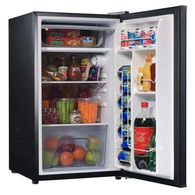 4.3 cu. ft. Mini Fridge Single Door Only in Black