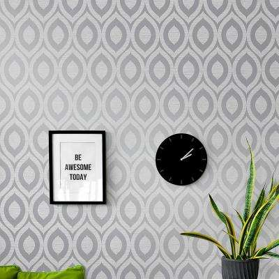 56.4 sq. ft. Rimini Grey Geometric Wallpaper