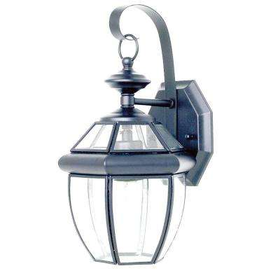 Mathers 1-Light Satin Nickel Outdoor Wall Lantern
