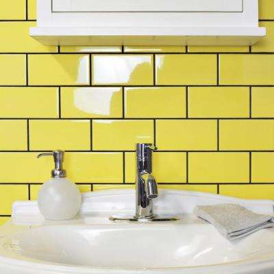 Park Slope Subway Canary Yellow 3 in. x 6 in. Ceramic Wall Tile (36 cases / 690.48 sq. ft. / pallet)