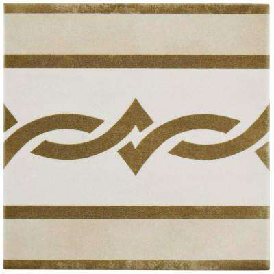 Atelier Tabaco Cenefa 5-7/8 in. x 5-7/8 in. Ceramic Floor and Wall Tile