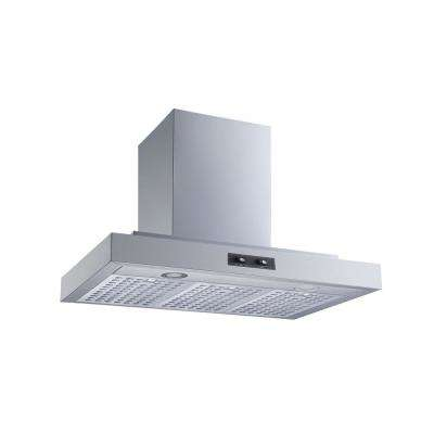 30 in. Convertible Wall Mount Range Hood in Stainless Steel with Baffle Filters and LED Lights