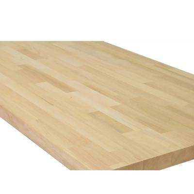 10 ft. L x 2 ft. 1 in. D x 1.5 in. T Butcher Block Countertop in Unfinished European Alder