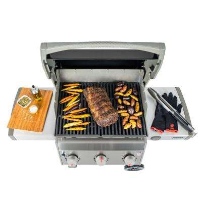 Spirit II E-310 3-Burner Natural Gas Grill in Black