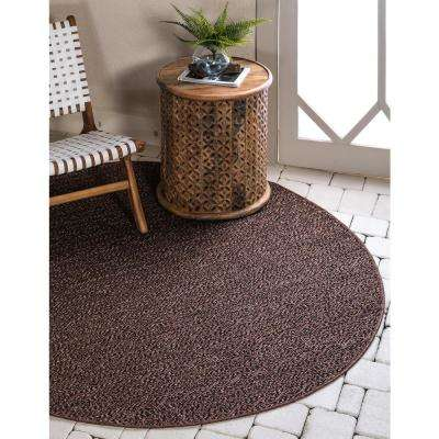Outdoor Links Brown 6' 0 x 6' 0 Round Rug