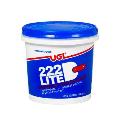 1 qt. 222 Lite Spackling Paste (2-Pack)